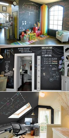 chalkboard paint for the side/back of a bookshelf for my classroom