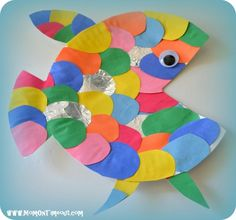 under the sea art projects rainbow fish