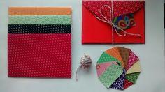 Envelopes e tags em tecido