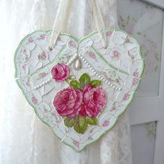 Romantic Roses Mosaic Heart
