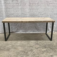 This stunning handmade dining table would look fantastic in every room Frame created from 50x25 box section is extremely solid and provide unique look. 60mm Extreme Thick top you can see on pictures is made by solid reclaimed boards and its finished in White wash wax. Product info: Top: 60mm board Steel Dining Table, Dining Room Table, A Table, Timber Wood, Wood And Metal, Solid Wood, Grey Ikea Kitchen, Rustic Kitchen, Kitchen Dining