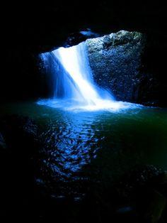 COOL #waterfall at Natural Bridge, Springbrook National Park, #Queensland!
