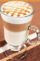 Caramel Macchiato — at Cafe Bella Rue. Latte Macchiato, Café Latte, Ice Caramel Macchiato, Caramel Latte, Café Starbucks, Starbucks Recipes, Smoothies, Smoothie Drinks, Coffee Love