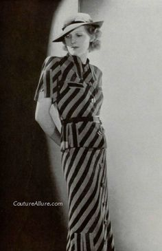 Couture Allure Vintage Fashion: Weekend Eye Candy - Marcel Rochas, 1934