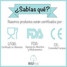 Conoce nuestras certificaciones #LFGB #FDA #CE #mordederas #collares #accesorios