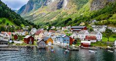 Foto de Naeroyfjord, en los fiordos noruegos