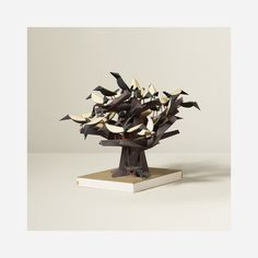213: Irving Harper / Untitled (Flock of Birds in Tree) < Irving Harper Paper Sculptures, 21 January  2016 < Auctions | Wright