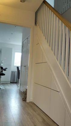 Stairs Storage Drawers, Under Stairs Drawers, Storage Under Staircase, Under Stairs Storage Solutions, Stairway Storage, Closet Under Stairs, Space Under Stairs, Under Stairs Cupboard, Under Staircase Ideas