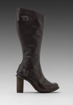 DR. MARTENS Ava Biker Boot in Black - Boots