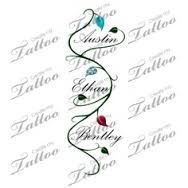 ankle tattoos with kids names - Google Search