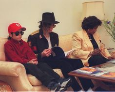 Michael Jackson with his friend Omer Bhatti and his mother Katherine.