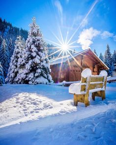 Early winter morning in Morgins Valais! Hope everybody had a good start into 😃 . Photo by . Winter Love, Winter Snow, Winter Christmas, Winter Photography, Landscape Photography, Winter Scenery, Montage Photo, Winter Magic, Winter Pictures