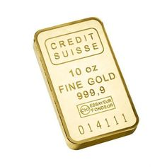 10 oz Credit Suisse Gold Bar - With Assay - .999 - 10 Troy oz - FREE SHIPPING #CreditSuisse