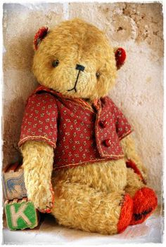 Vintage Style Mohair Teddy Bear by My Primitive Sistas