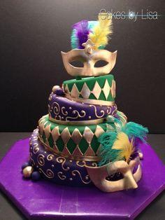 Orleans Mardi Gras Cake
