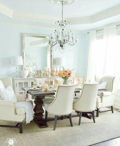 Kelley Nan Summer Home Showcase  Blue Dining Room In Sherwin Prepossessing Blue Dining Room Ideas Design Ideas