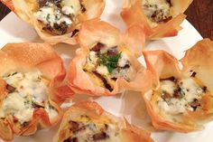 Mini quiches with blue cheese, caramelized onion and biltong [ NYBiltong.com ] #biltong #recipe #flavor