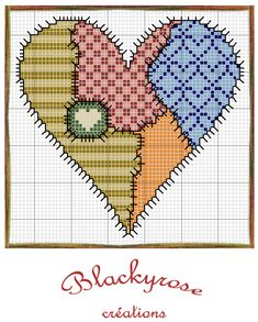 Xmas Cross Stitch, Cross Stitch Needles, Cross Stitch Heart, Cross Stitching, Wedding Cross Stitch Patterns, Cross Stitch Designs, Embroidery Hearts, Cross Stitch Embroidery, Patchwork Heart