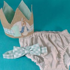Shabby Chic Peter Rabbit birthday outfit first by Hartranftdesign