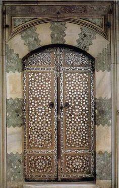 Doors leading to the Bagdat Pavilion, Topkapi Palace, Istanbul, Turkey