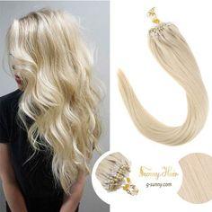 """16"""" White Blonde (#60) 100S Micro Loop Human Hair Extensions #hairextensions  #hairextensionspecialist  #hair Loop, White Blonde, Human Hair Extensions, Girls Best Friend, Fashion Accessories, Hair Color, Haircolor, Hair Color Changer, Hair Dye"""
