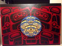 From negative to positive panel Native Art, Native American Art, John Wilson, Tlingit, Native Design, Indigenous Art, Aboriginal Art, People Art, First Nations