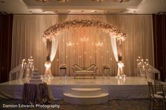 See this amazing indian wedding reception stage by @ElegantAffairs1