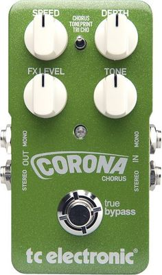 TC Electronic Corona Chorus...Love this pedal...Lush chorus and you can even get a rotary sound of it if you tweak the pedal right!