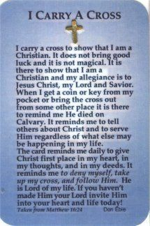 I Carry A Cross In My Pocket A Simple Reminder To Me Of