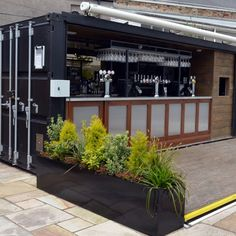 Source POP-UP container coffee bar design, Hydraulic system Mobile container bar on m.alibaba.com