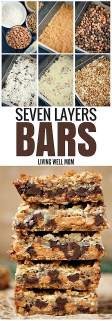 Seven Layer Magic Cookie Bars - with chocolate butterscotch coconut walnuts graham and more this mouthwatering cookie bar recipe is a crowd favorite Plus it s quick and easy to make Brownie Desserts, Mini Desserts, Desserts For A Crowd, Holiday Desserts, Holiday Baking, Chocolate Desserts, Easy Desserts, Delicious Desserts, Chocolate Chips