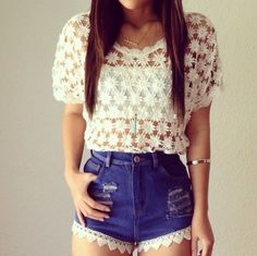 the shorts are kinda weird, but the top's cute.