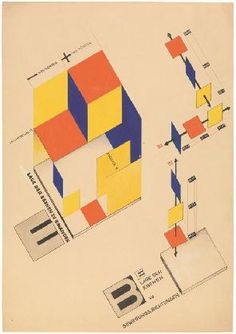Joost Schmidt | Mechanical Stage, Relative Position of the Levels | 1925