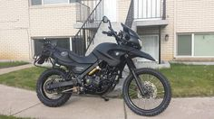 Click this image to show the full-size version. Moto Car, Rally Raid, Black Betty, Motorcycle Travel, Bmw Motorcycles, Happy Trails, Cafe Racers, Scooters, Motocross