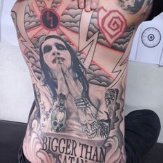 There are some dedicated fans out there! Backpiece by Ssup Tattoo.