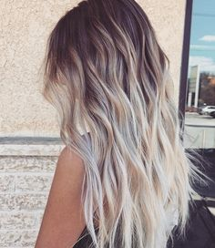 The perfect summer ombre . Creamy goodness. Who's hair goals look a little like this?