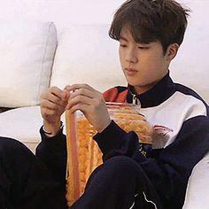 Esse SeokJin é tão fofinho. Dá vontade de apertar as bochechas.