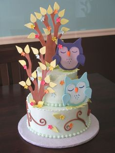 aww. this is such a cute baby shower cake!
