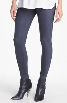 Hue Waxed Denim Leggings available at #Nordstrom
