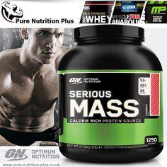OPTIMUM NUTRITION SERIOUS MASS 2.7kg / 5.4kg WEIGHT GAINER / GET LEAN MUCLE MASS