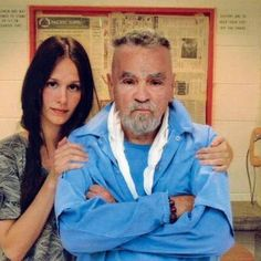 Charles Manson, the leader of a notorious group of killers dubbed The Manson Family,