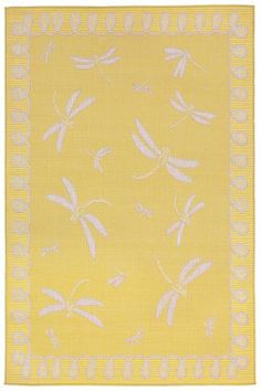 Dragonfly Area Rug - Synthetic Rugs - Machine-woven Rugs - Patio Rugs - Outdoor Rugs - Contemporary Rugs - Modern Rugs - Whimsical Rugs | HomeDecorators.com