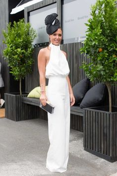 Derby Day what they wore - Vogue Australia Hat For The Races, Dresses For The Races, Race Day Outfits, Derby Outfits, Race Day Fashion, Races Fashion, Melbourne Races, Melbourne Cup, Spring Racing