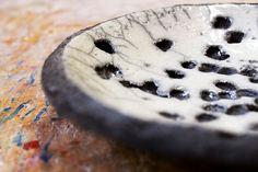 Raku-Schale, Unikat-Keramik mit Lochstruktur... von zeit-geister auf DaWanda.com