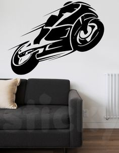 Wall Sticker MOTORBIKE by Sticky!!!