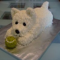 Westie Cake - @Ashley Sperber you should make this for Snickers!! :)