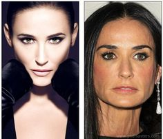 So on the right hand side we have Demi Moore and on the left? (via photoshop-disasters)