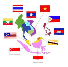 Illustration about Asean Economics Community(AEC) eps 10 format. Illustration of southeast, philippines, culture - 64558415 World Organizations, Asia Map, Thailand Photos, Peta, Vector Art, Flag, Community, Wallpaper, Logos