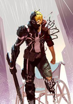 Flash Thompson or Agent Venom Marvel Dc Comics, Marvel Fanart, Marvel Venom, Marvel Heroes, Marvel Vs, Comic Book Characters, Marvel Characters, Comic Books Art, Comic Art