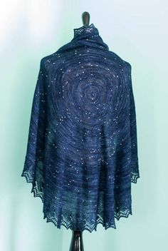 Accurate star map shawl